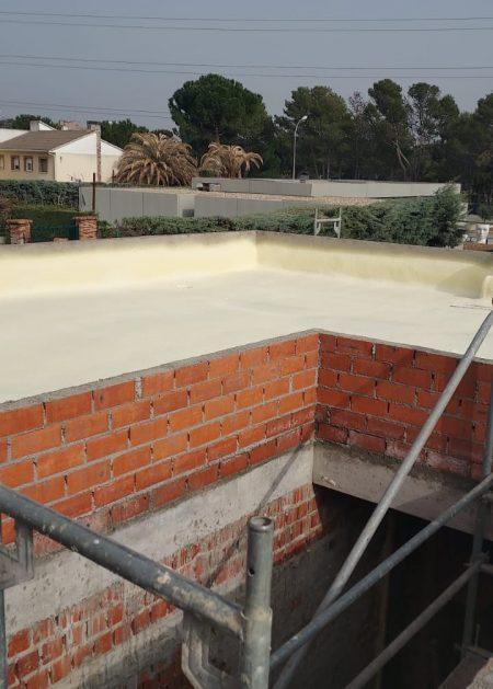 tejado en obras Aislamientos Ayara