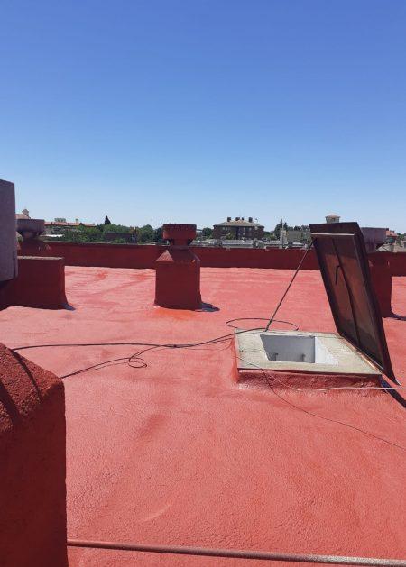 tejado rojo Aislamientos Ayara