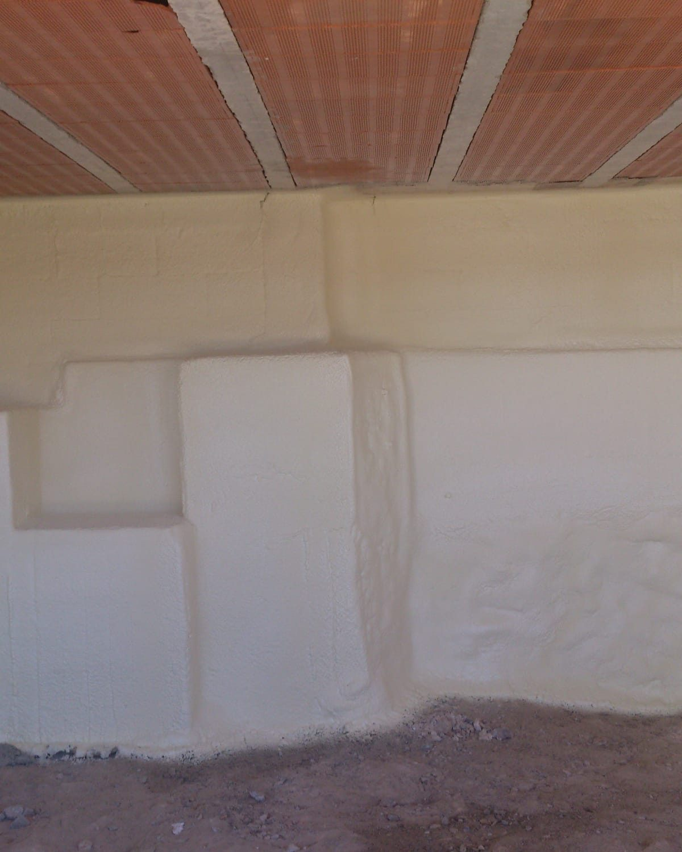 pared blanca Aislamientos Ayara